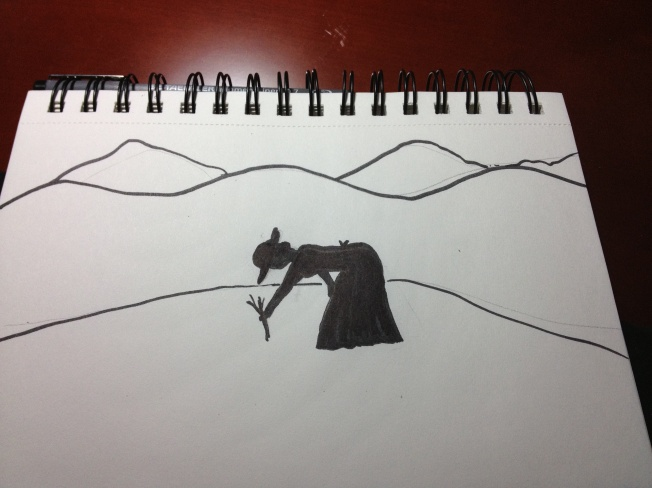 I want to do a few silhouettes. The first is one from my area in the Appalachan Mountains.