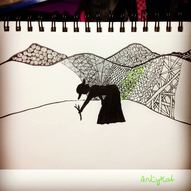 Adding some Zentangle Inspired Art (ZIA), including some color