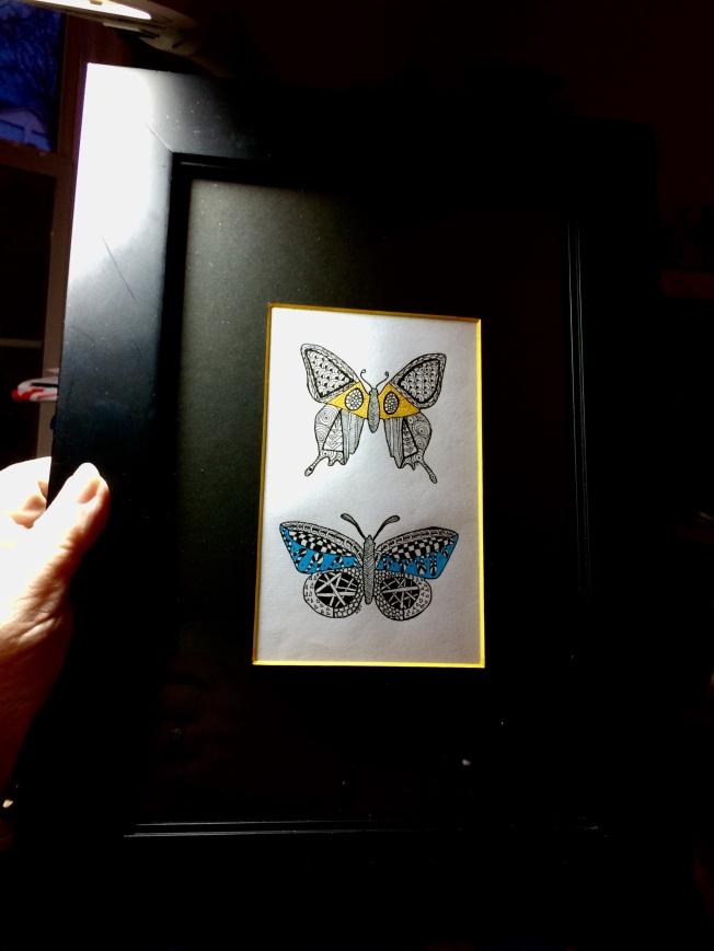 Duet, framed