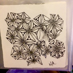This is a tile and tangle we did at seminar CZT-20